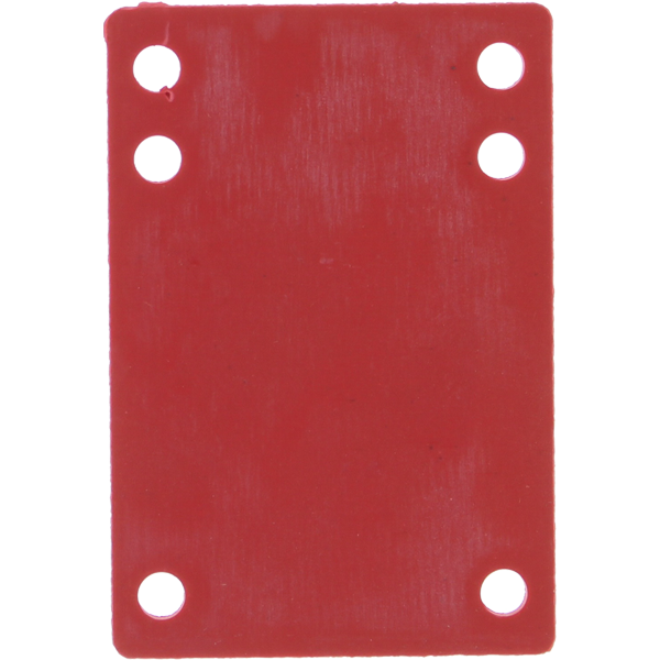 """BLANK RISER RUBBER 1/8"""" RED 1pc"""