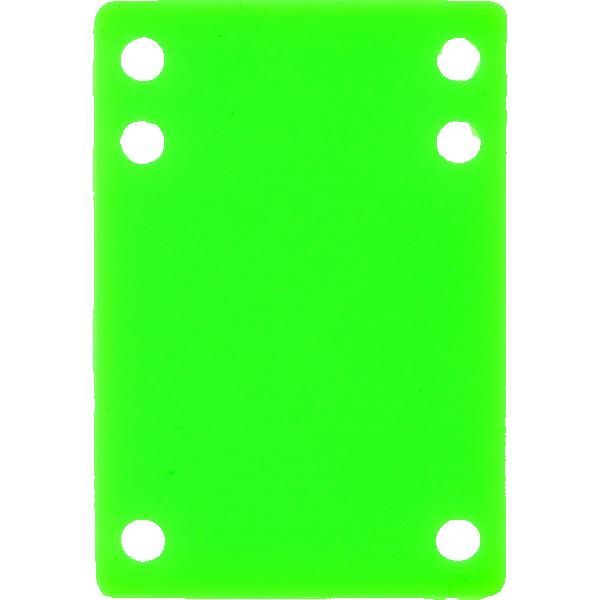 "BLANK RISER RUBBER 1/8"" NEON GREEN 1pc"