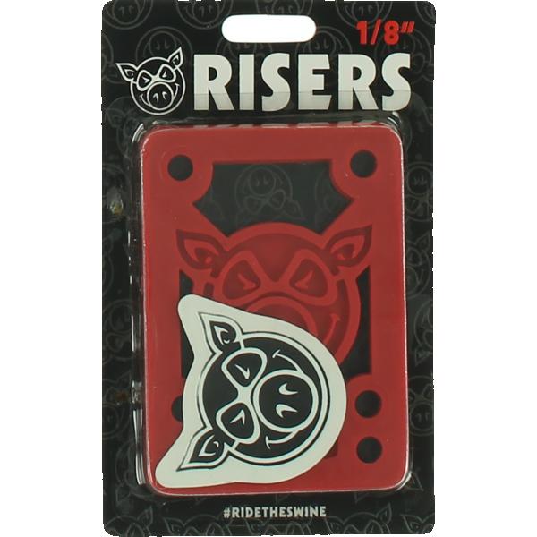 "PIG PILES 1/8"" HARD RISERS RED single set"