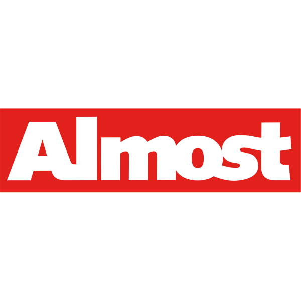 ALMOST RED BAR DECAL single