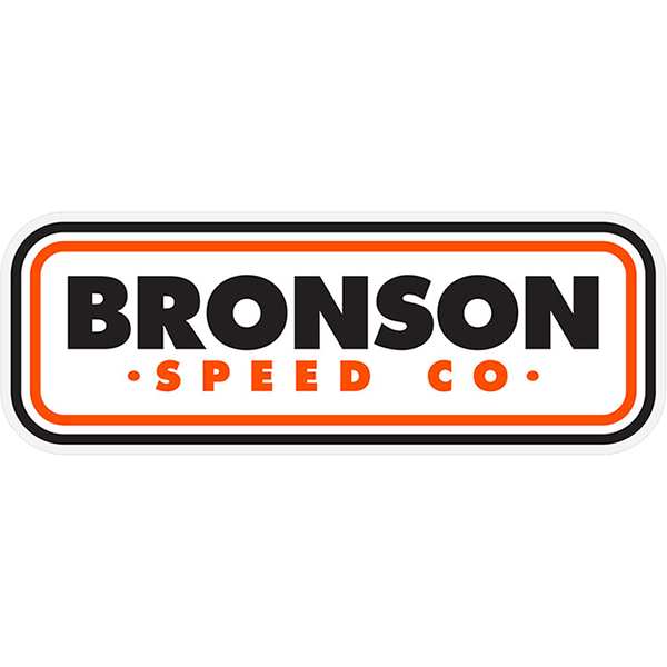 """BRONSON PATCH LOGO DECAL 1.5""""x4.25"""" WHT/ORG/BLK"""